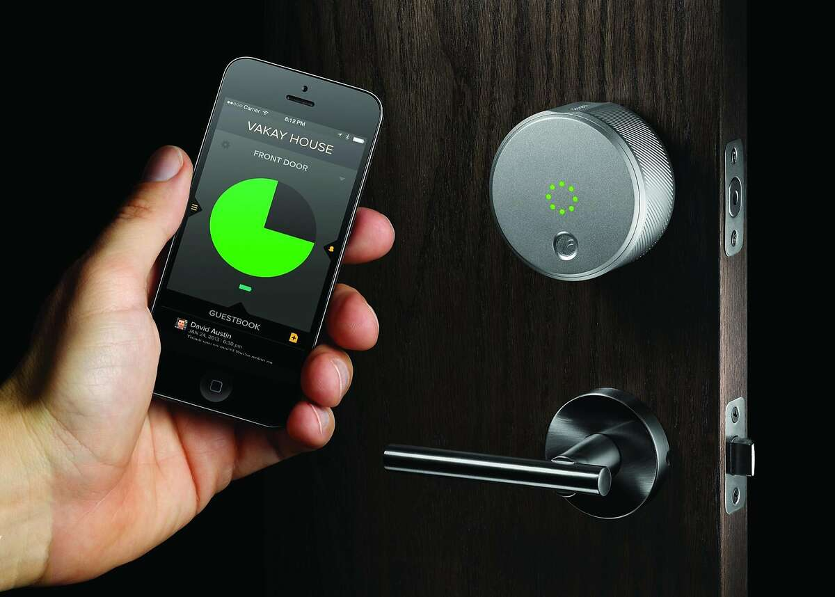 August smart lock: Front-door lock controlled by smartphone app, with access granted (or denied) remotely, and information about who's come in and gone out through it - and, for curfew purposes, when.