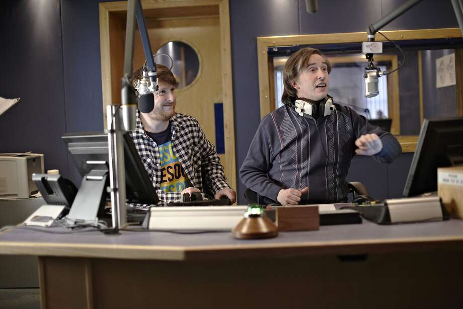 "Sidekick Simon (Tim Key, left) teams up with DJ Alan Partridge (Steve Coogan) in ""Alan Partridge."" Photo: Simon Thorpe, Associated Press"