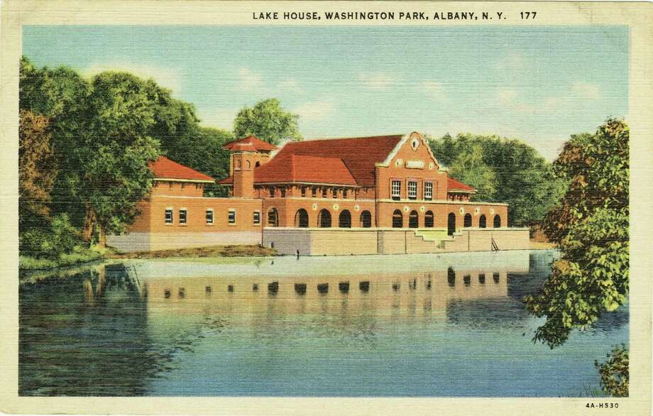 "Lake House, Washington Park C.W. Hughes & Co., INC., Mechanicville, NY Postcard, ht. 3 1/2"" x w. 5 1/2"" Albany Institute of History & Art Library, PCC_681"