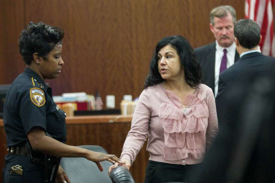 Ana Trujillo arrives to court during the punishment phase of her trial Wednesday, April 9, 2014, in Houston. Trujillo was convicted in the brutal 2013 slaying of her boyfriend, Alf Stefan Andersson, using a 5-inch stiletto shoe. Photo: Brett Coomer, Houston Chronicle / © 2014 Houston Chronicle