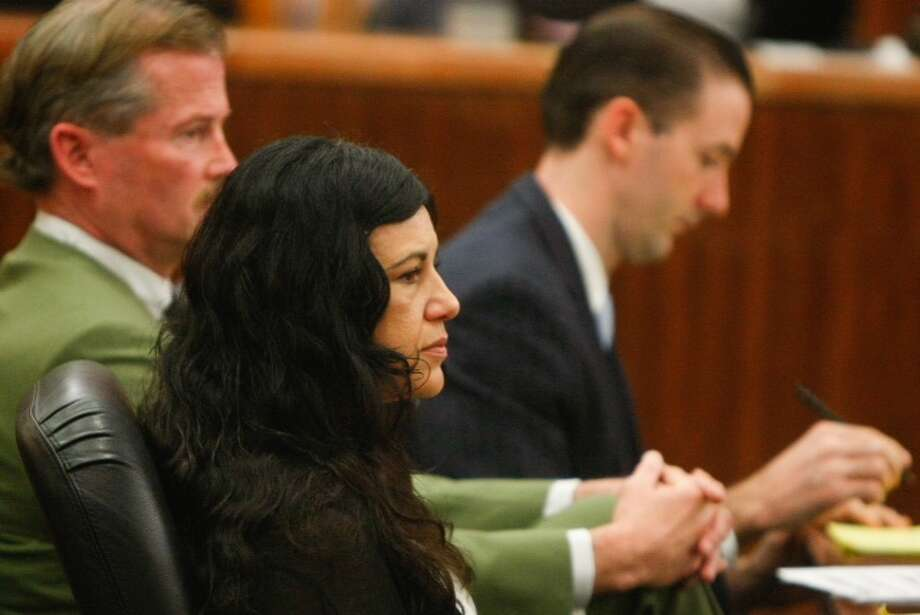 Ana Trujillo appears in court Monday, April 7, 2014. Trujillo is accused of killing her boyfriend Alf Stefan Andersson with a stiletto shoe. Photo: Cody Duty / Houston Chronicle
