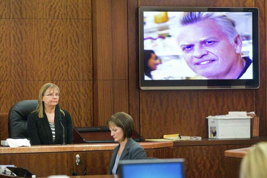 Annika Lindqvist testifies on March 31, 2014, against Ana Lilia Trujillo. Photo: Brett Coomer, Houston Chronicle / © 2014 Houston Chronicle