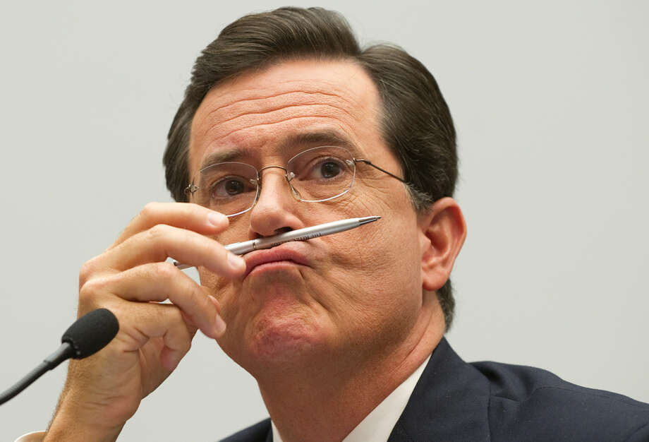 Stephen Colbert testifies on U.S. farm workers before a Congressional subcommittee. Photo: SAUL LOEB, AFP/Getty Images / AFP