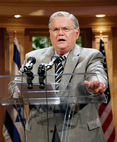 Readers respond to comments made by Rev. John Hagee, pastor of Cornerstone Church in San Antonio, that atheists should book flights out of town. AP Photo: AP / AP