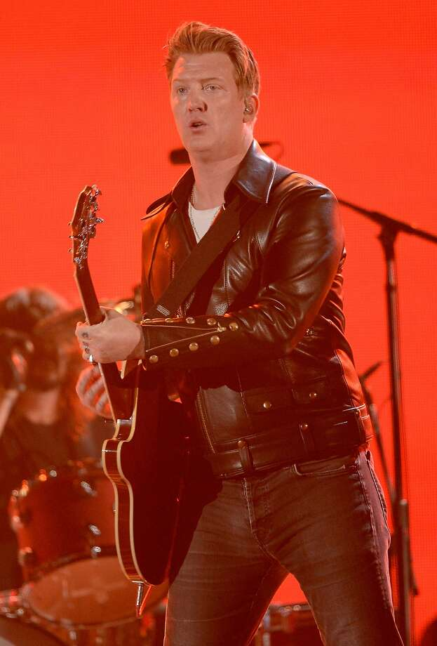 Josh Homme fronts Queens of the Stone Age at the Grammys. Photo: Kevork Djansezian, Getty Images