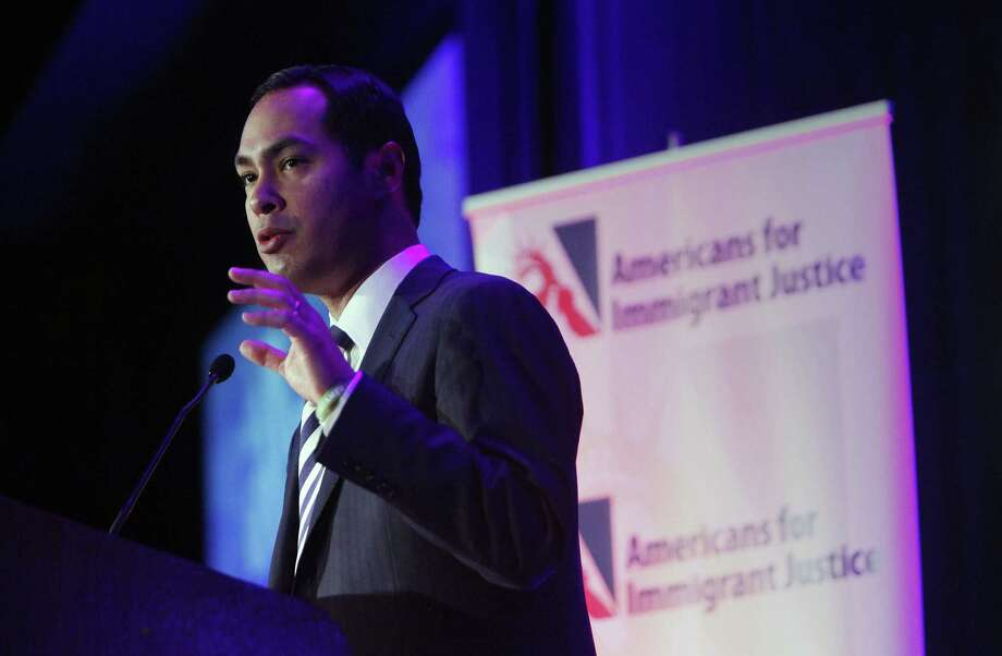 San Antonio Mayor Julián Castro speaks at the Americans for Immigrant Justice meeting in Miami in 2013. According to records, Castro spent  more than 200 days traveling during 2012 and 2013. Photo: Express-News File Photo / 2013 John Van Beekum