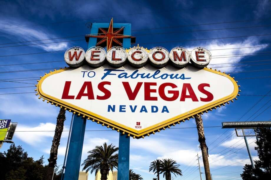 The landmark sign is tacky but in a classic way. There are a few companies that offer wedding packages beneath it. And if that's not Vegas-y enough, you can always throw in Elvis impersonator for your photos. Photo: Aluma Images, Getty Images