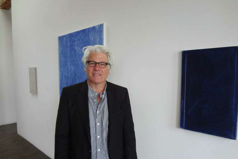 John Zurier is showing six paintings influenced by his travels in Iceland at Lawrence Markey Gallery. Photo: Photos By Steve Bennett / San Antonio Express-News