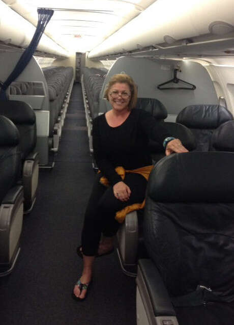 Linda Nelson flew solo from Fort Myers, Fla., to Newark, N.J. She flew                    solo, as in the lone passenger on the jetliner. Photo: Courtesy Photo