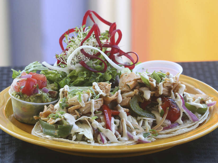 Jackfruit plays the part of carnitas in the Veggie Street Tacos, a tasty dish that can appeal to vegans and omnivores. Photo: Tom Reel / San Antonio Express-News