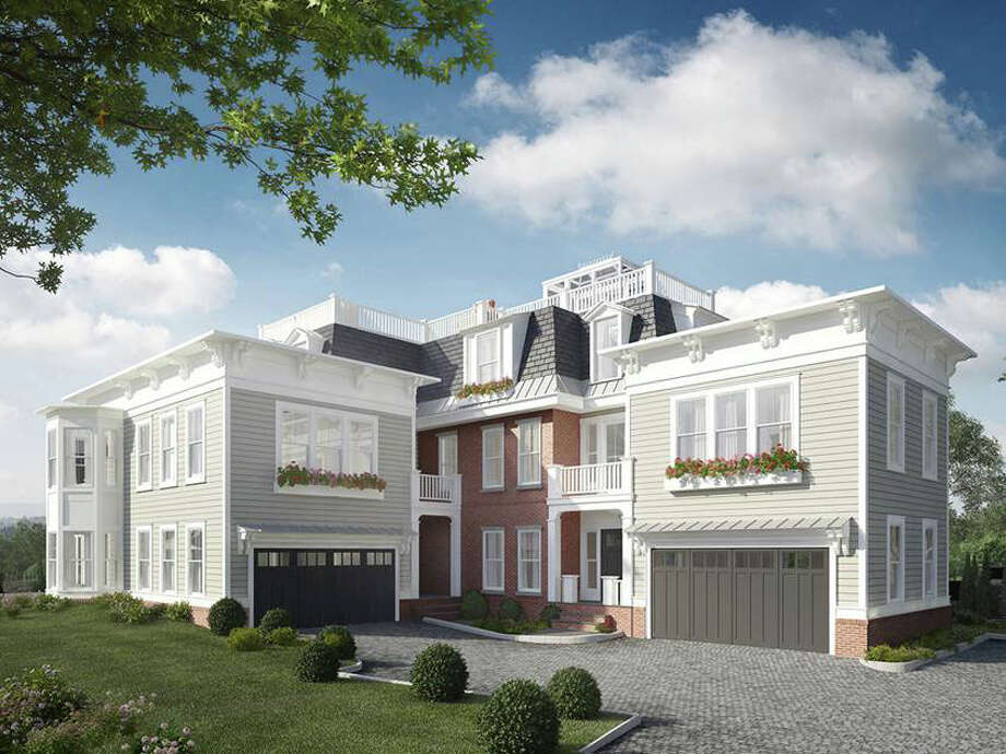 A rendering of condominiums being built as part of a new gated community on Oneida Drive. Photo: Contributed Photo / Greenwich Time Contributed