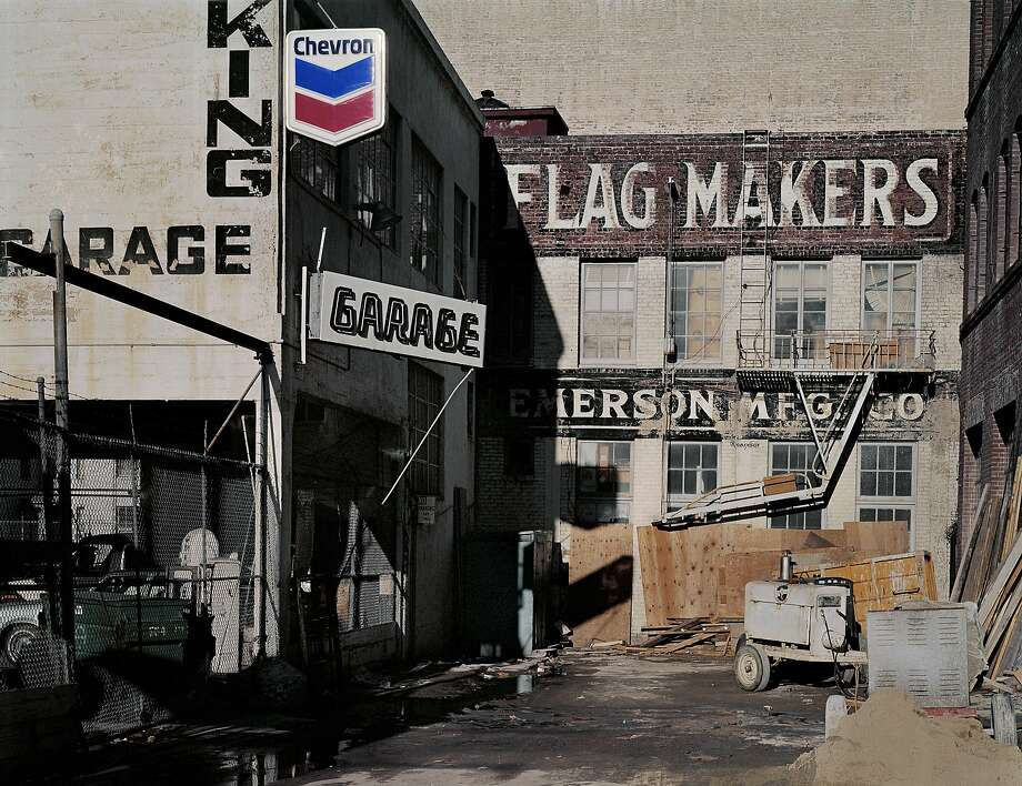 "Flag makers, Natoma and Third streets, from the book """"South of Market, 1978-1986"" by Janet Delaney. Photo: Janet Delaney, Courtesy Janet Delaney"