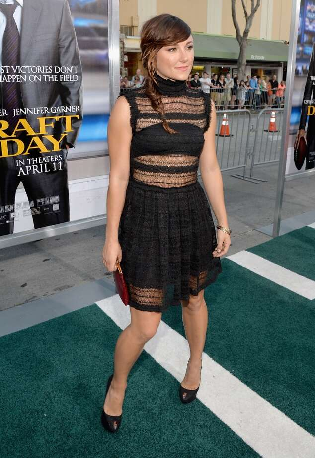 "Actress Briana Evigan attends Premiere Of Summit Entertainment's ""Draft Day."" Photo: Michael Buckner, Getty Images"
