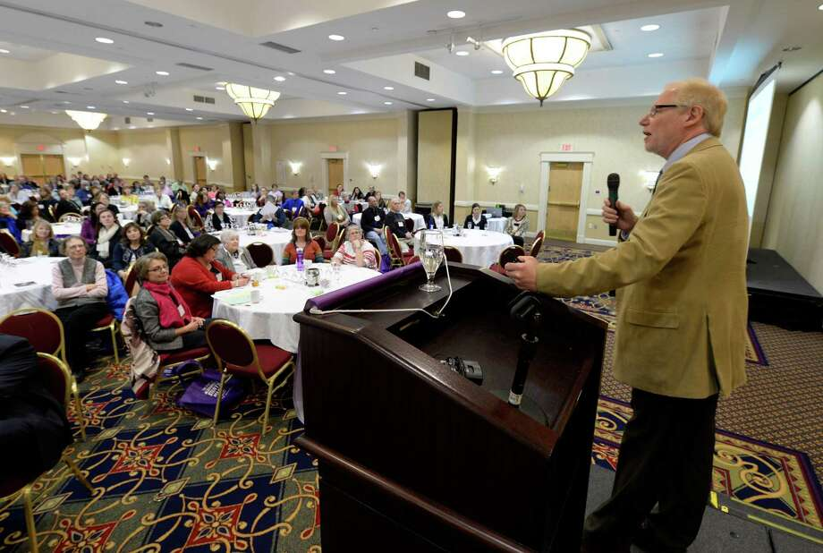 G. Allen Power, MD speaks to the Alzheimer's caregivers conference Thursday morning April 10, 2014 in Albany, N.Y.   (Skip Dickstein / Times Union) Photo: Skip Dickstein / 00026385A