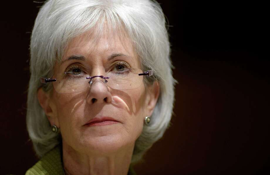 Health and Human Services Secretary Kathleen Sebelius listens as she testifies on Capitol Hill in Washington, Thursday, April 10, 2014, before the Senate Finance Committee hearing on the HHS Department's fiscal Year 2015 budget. A White House official says Sebelius is resigning from the Obama administration. The move comes just a week after the close of the rocky enrollment period for President Barack Obama's health care law. Photo: Susan Walsh, AP / AP