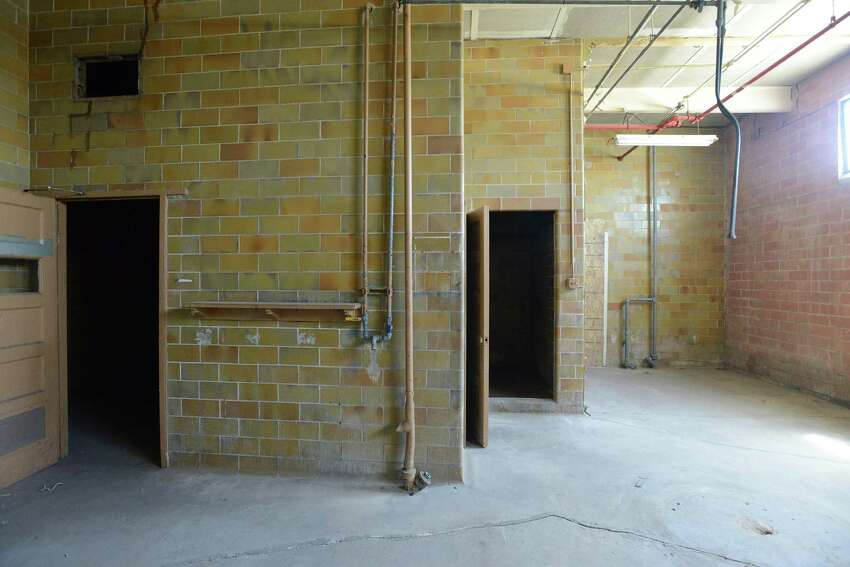 This area, which was once a dressing room for workers in a meat processing plant, will soon be an apartment. Gordon Wise, the former co-owner of Nightmare on Grayson haunted house has moved his operation east, to a former meat processing warehouse near the AT&T Center. Thursday, April 10, 2014.