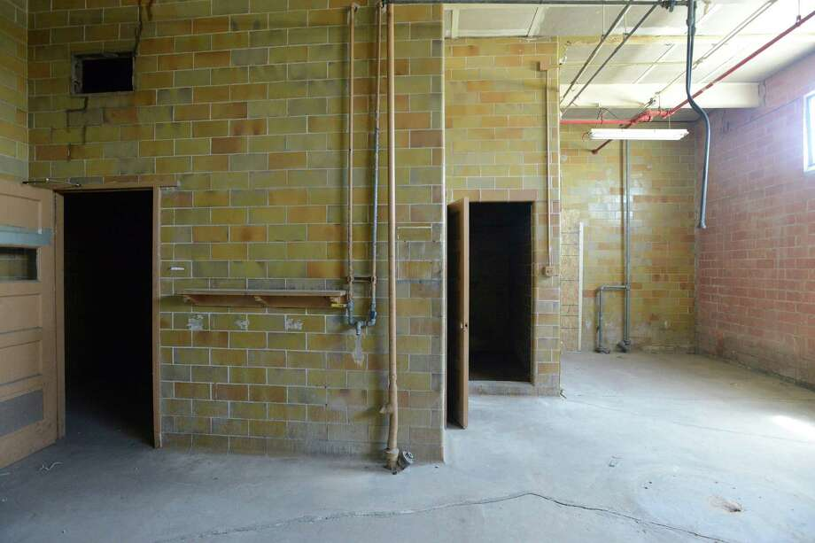 This area, which was once a dressing room for workers in a meat processing plant, will soon be an apartment. Gordon Wise, the former co-owner of Nightmare on Grayson haunted house has moved his operation east, to a former meat processing warehouse near the AT&T Center. Thursday, April 10, 2014. Photo: San Antonio Express-News / San Antonio Express-News