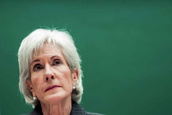 FILE -- Health and Human Services Secretary Kathleen Sebelius appears before a Congressional panel in Washington in this Dec. 11, 2013 file photo. Sebelius is resigning, ending a stormy five-year tenure marred by the disastrous rollout of President Obama's signature legislative achievement, the Affordable Care Act. (Gabriella Demczuk/The New York Times)