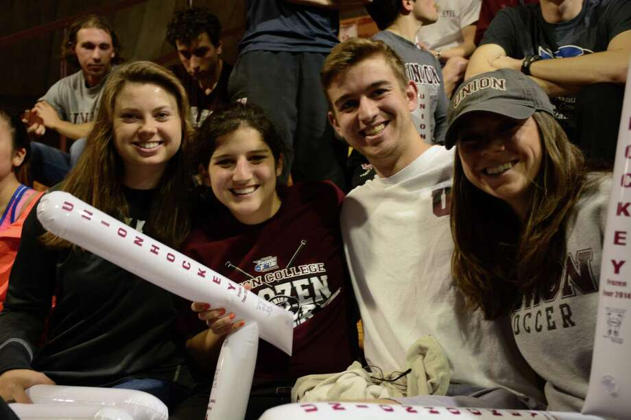 Were you Seen at Union College's Messa Rink watching the Union hockey team play Boston College in the Frozen Four NCAA semifinal game in Philadelphia on Thursday, April 10, 2014? Photo: Trevor R. Martin