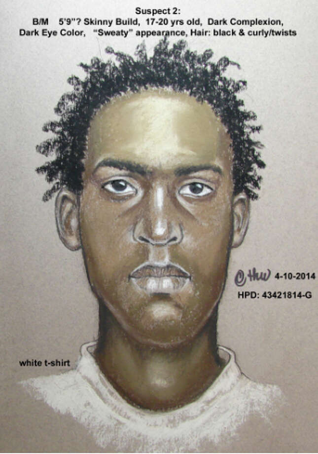 A composite sketch of one of the men seen fleeing a fatal shooting at an apartment. Photo: HPD / HPD