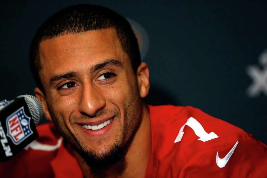 FILE - APRIL 10:  According to reports April 10, 2014, San Fransisco 49ers quarterback Colin Kaepernick is being investigated for an incident at a Miami hotel in early April. NEW ORLEANS, LA - JANUARY 31:   Colin Kaepernick #7 of the San Francisco 49ers addresses the media during Super Bowl XLVII Media Availability at the New Orleans Marriott on January 31, 2013 in New Orleans, Louisiana. The 49ers will take on the Baltimore Ravens on February 3, 2013 at the Mercedes-Benz Superdome.  (Photo by Scott Halleran/Getty Images) Photo: Scott Halleran, Staff / 2013 Getty Images