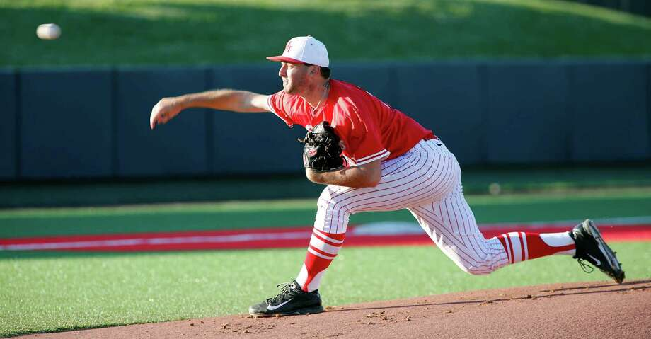 David Longville is one of the reasons the pitching staff has been the strength of UH's eighth-ranked team this year. The righthander has a 3.33 ERA over 241⁄3 innings for the Cougars, who have allowed a conference-low 56 runs and boast a .207 opponents' batting average. Photo: Craig Hartley, Freelance / Photos by Craig Hartley