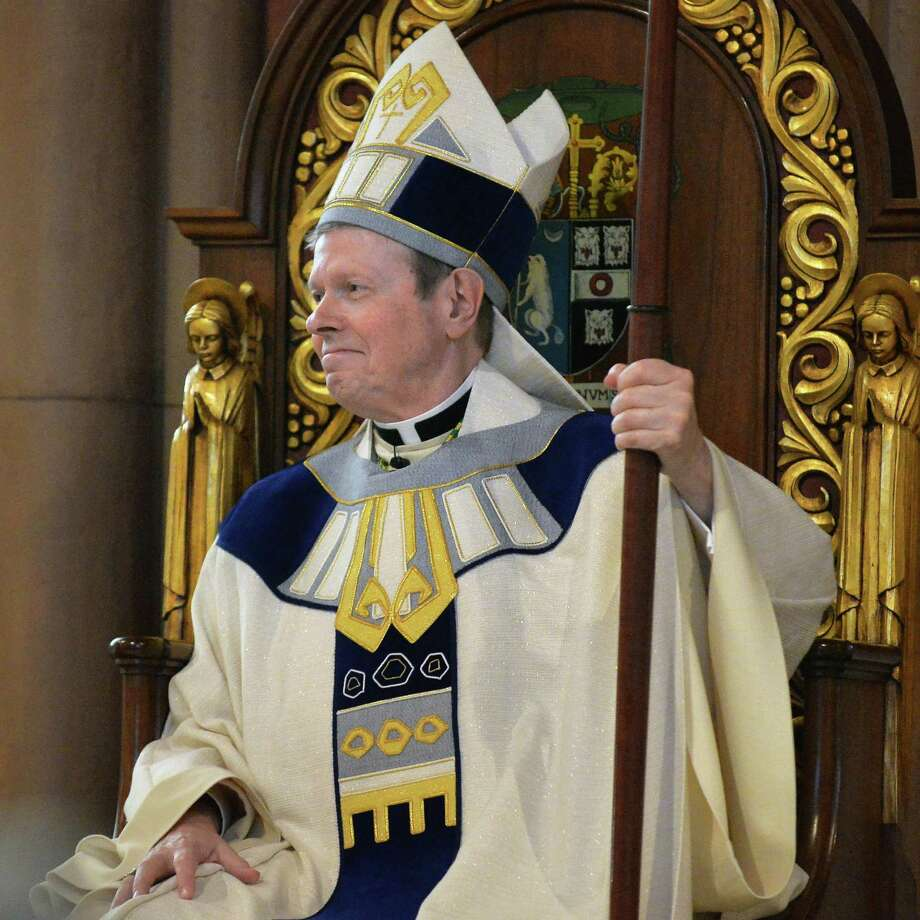 Edward B. Scharfenberger is installed as Bishop of the Albany Diocese at the Cathedral of the Immaculate Conception Thursday April 10, 2014, in Albany, N.Y.  (John Carl D'Annibale / Times Union) Photo: John Carl D'Annibale / 00026421B
