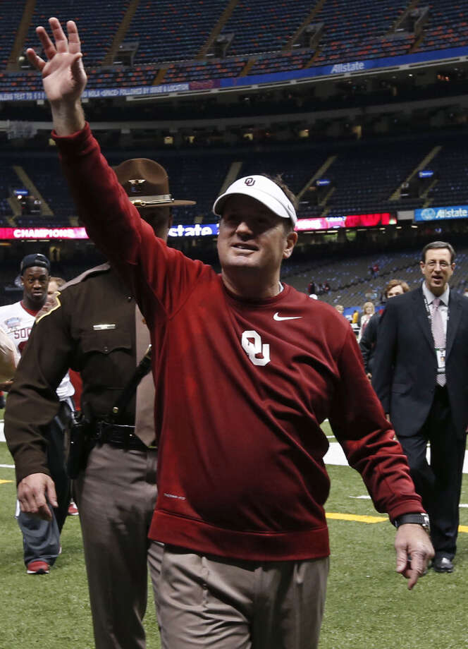 Bob Stoops and OU hope to keep smiling after 2013's strong finish that included an upset of Alabama. Photo: Rusty Costanza / Associated Press / FR170655 AP