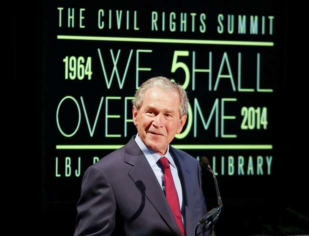 Former president George W. Bush considers Midland his hometown (it's also the site of his childhood home), but he was actually born in New Haven, Conn. His family moved to Midland while he was a boy. Photo: Jack Plunkett, FRE / FR59553 AP