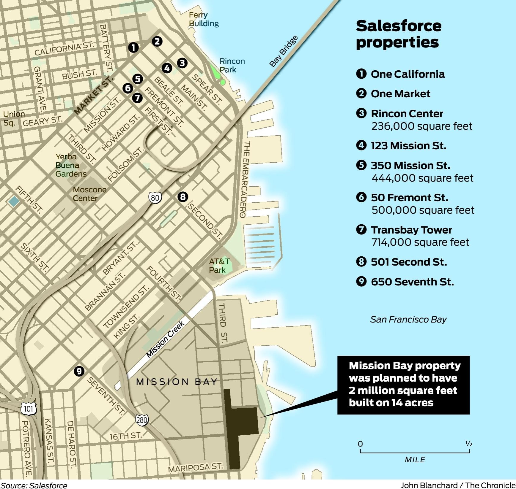 salesforce makes landmark deal to lease half of transbay tower sfgate. Black Bedroom Furniture Sets. Home Design Ideas