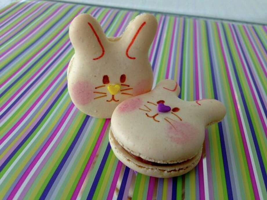 Macaron by Patisse created these bunny macarons, which are $3 each.  Macaron by Patisse is located at 2033 W Gray. Call 713-965-7359. Photo: Courtesy Photo