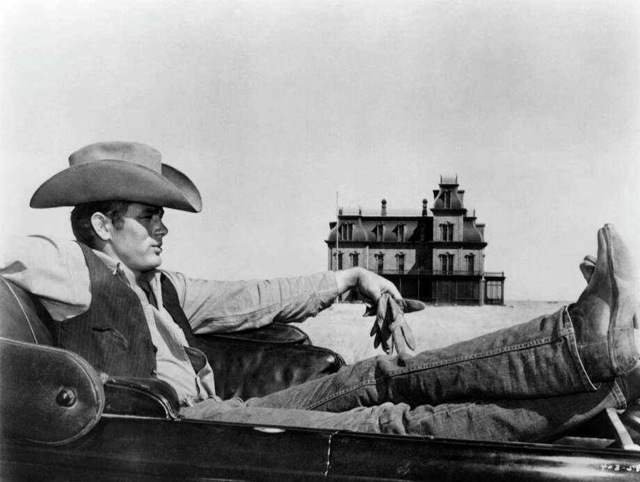 Actor James Dean poses for a photo on the set of the Warner Bros film 'Giant' in 1955 in Marfa, Texas. Photo: Michael Ochs Archives, Getty Images / Moviepix