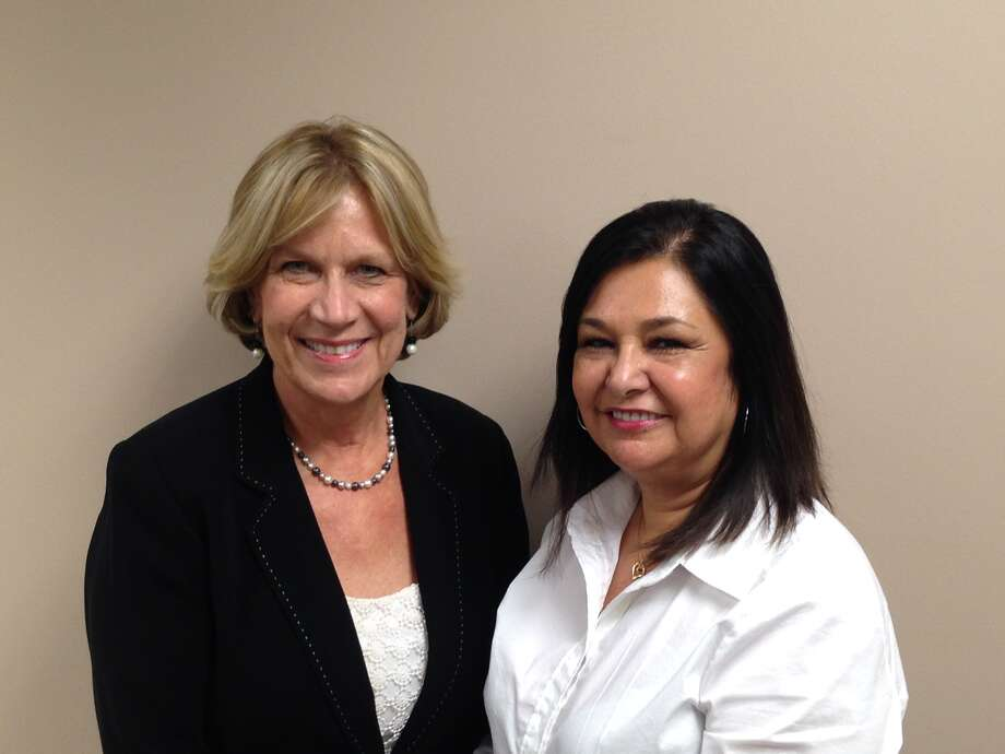 Patricia Pollard (left), vice president of Relocation for Coldwell Banker United, Realtors, with Grayce Maldonado, Best Affinity/USAA Referral coordinator.