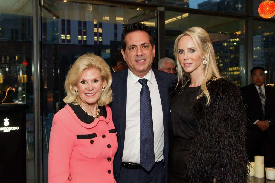 Dede Wilsey, Giovanni Mattera and Vanessa Getty at a cocktail party in the Battery Penthouse hosted by de Grisogono in honor of Dede Wilsey and The Fine Art Museums of San Francisco on April 8, 2014. Photo: Drew Altizer Photography / Drew Altizer Photography