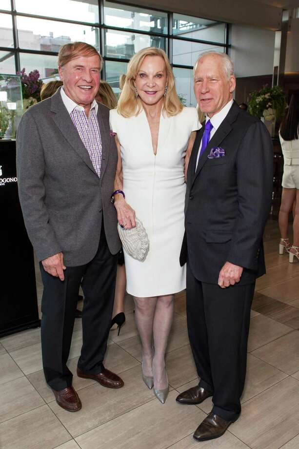 Dick Kramlich, Carole McNeil and Gary Shansby at a cocktail party in the Battery Penthouse hosted by de Grisogono in honor of Dede Wilsey and The Fine Art Museums of San Francisco on April 8, 2014. Photo: Drew Altizer Photography / Drew Altizer Photography