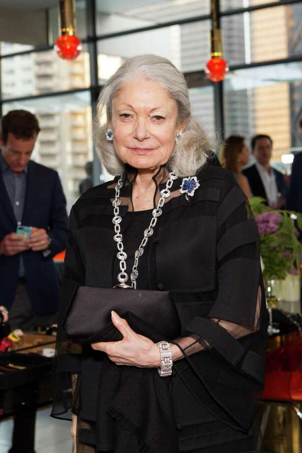 Denise Hale at a cocktail party in the Battery Penthouse hosted by de Grisogono in honor of Dede Wilsey and The Fine Art Museums of San Francisco on April 8, 2014. Photo: Drew Altizer Photography / Drew Altizer Photography