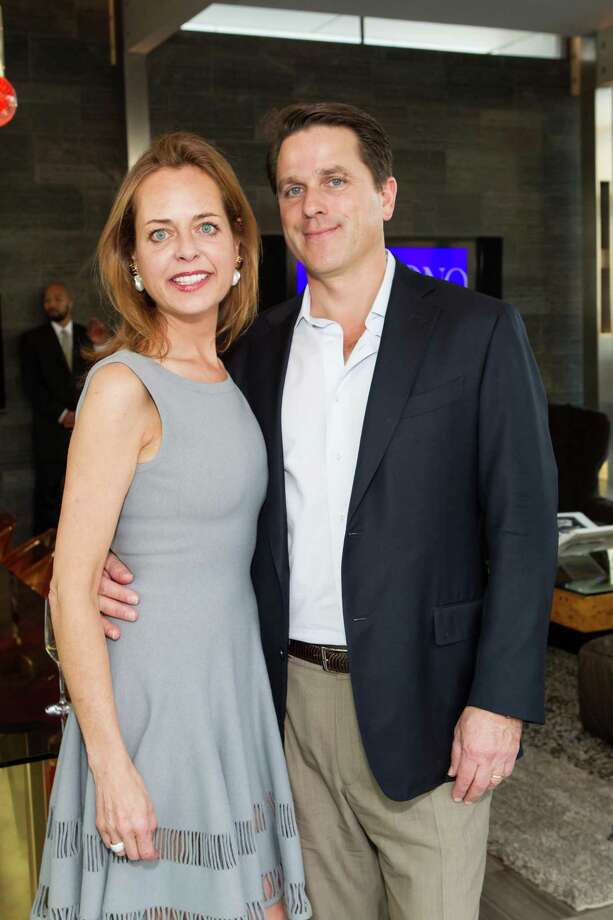 Charlot Malin and Gregory Malin at a cocktail party in the Battery Penthouse hosted by de Grisogono in honor of Dede Wilsey and The Fine Art Museums of San Francisco on April 8, 2014. Photo: Drew Altizer Photography / Drew Altizer Photography