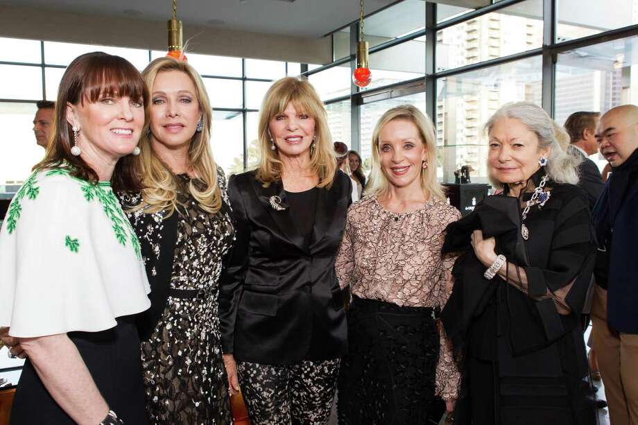 Allison Speer, Lauren King, Susan Niven, Barbara Brown and Denise Hale at a cocktail party in the Battery Penthouse hosted by de Grisogono in honor of Dede Wilsey and The Fine Art Museums of San Francisco on April 8, 2014. Photo: Drew Altizer Photography / Drew Altizer Photography