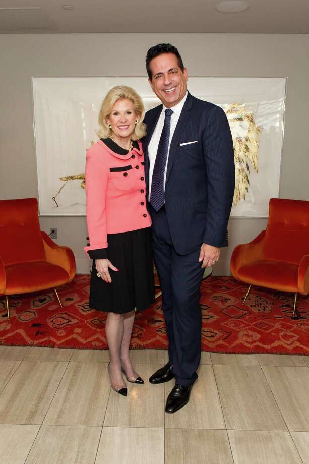 Dede Wilsey and Giovanni Mattera at a cocktail party in the Battery Penthouse hosted by de Grisogono in honor of Dede Wilsey and The Fine Art Museums of San Francisco on April 8, 2014. Photo: Drew Altizer Photography / Drew Altizer Photography