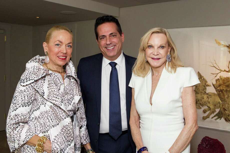 Adria Bini, Giovanni Mattera and Carole McNeil at a cocktail party in the Battery Penthouse hosted by de Grisogono in honor of Dede Wilsey and The Fine Art Museums of San Francisco on April 8, 2014. Photo: Drew Altizer Photography / Drew Altizer Photography