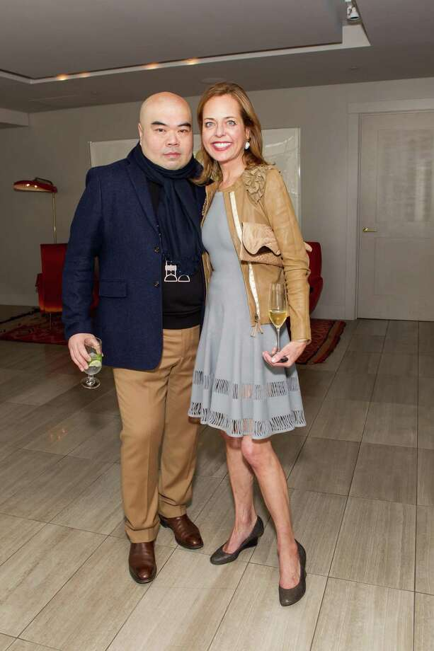 Andrew Gn and Charlot Malin at a cocktail party in the Battery Penthouse hosted by de Grisogono in honor of Dede Wilsey and The Fine Art Museums of San Francisco on April 8, 2014. Photo: Drew Altizer Photography / Drew Altizer Photography