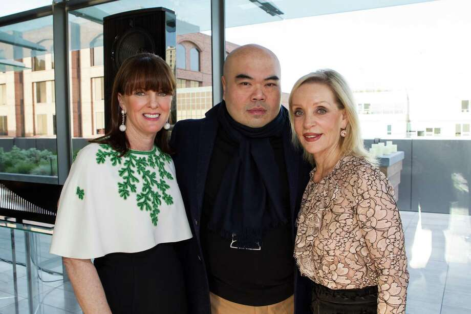 Allison Speer, Andrew Gn and Barbara Brown at a cocktail party in the Battery Penthouse hosted by de Grisogono in honor of Dede Wilsey and The Fine Art Museums of San Francisco on April 8, 2014. Photo: Drew Altizer Photography / Drew Altizer Photography