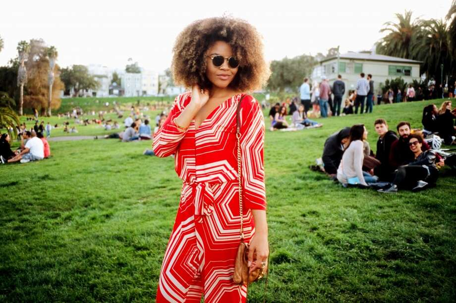 This red print romper is by Dannay McDaniels. Photo: William Rittenhouse