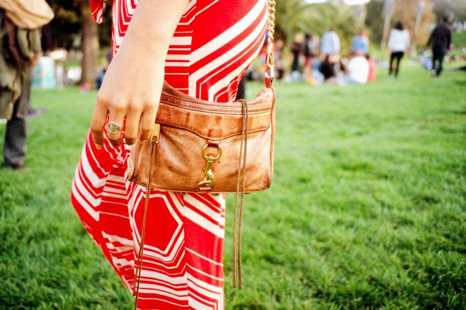 This purse is a Rebecca Minkoff Mini M.A.C. Clutch, a gift from Watkins's younger sister, Jade. Photo: William Rittenhouse