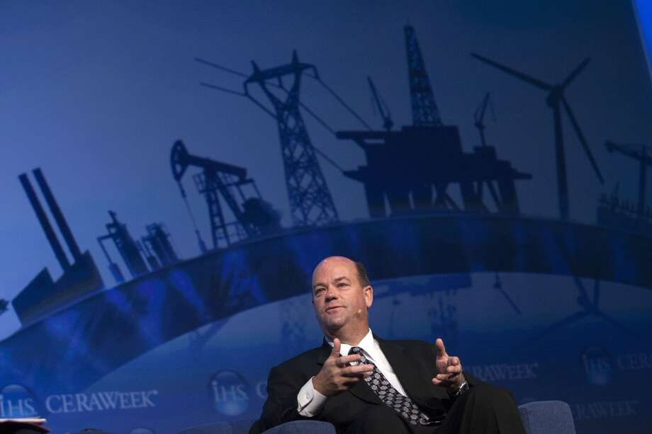 Ryan Lance, chairman and CEO of ConocoPhillips, gave the keynote address at CERAWeek at the Hilton Americas in Houston in March 2013. Photo: Johnny Hanson, Houston Chronicle