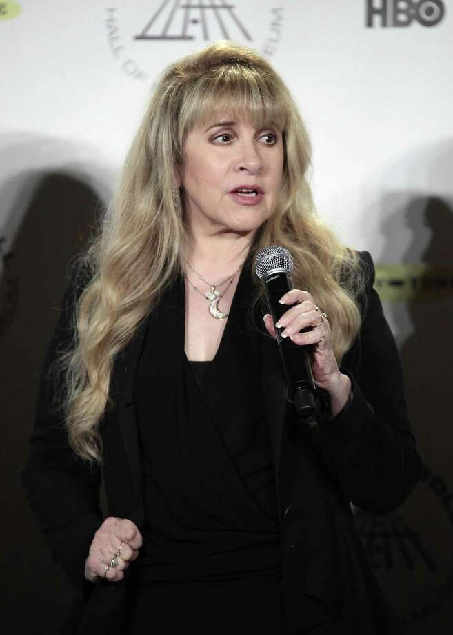 Stevie Nicks appears in the press room at the 2014 Rock and Roll Hall of Fame Induction Ceremony on Thursday, April, 10, 2014 in New York. (Photo by Andy Kropa/Invision/AP) ORG XMIT: NYAK003 Photo: Andy Kropa, AP / Invision