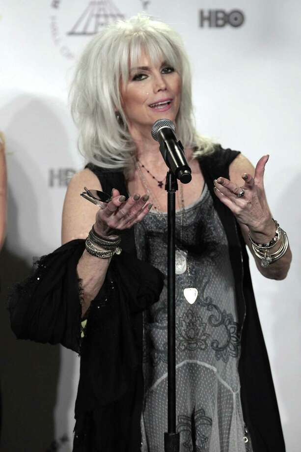 Emmylou Harris appears in the press room at the 2014 Rock and Roll Hall of Fame Induction Ceremony on Thursday, April, 10, 2014, in New York. (Photo by Andy Kropa/Invision/AP) ORG XMIT: NYAK005 Photo: Andy Kropa, AP / Invision