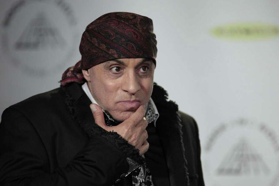 Hall of Fame inductee Steven Van Zandt appears in the press room at the 2014 Rock and Roll Hall of Fame Induction Ceremony on Thursday, April, 10, 2014 in New York. (Photo by Andy Kropa/Invision/AP) ORG XMIT: NYCS010 Photo: Andy Kropa, AP / Invision