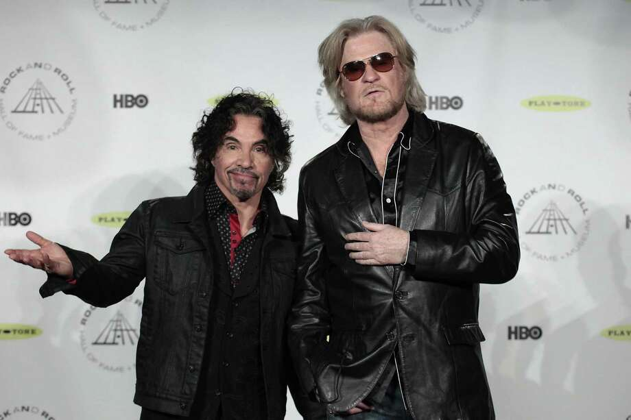 Hall of Fame Inductees John Oates and Daryl Hall appear in the press room at the 2014 Rock and Roll Hall of Fame Induction Ceremony on Thursday, April, 10, 2014, in New York. (Photo by Andy Kropa/Invision/AP) ORG XMIT: NYAK362 Photo: Andy Kropa, AP / Invision
