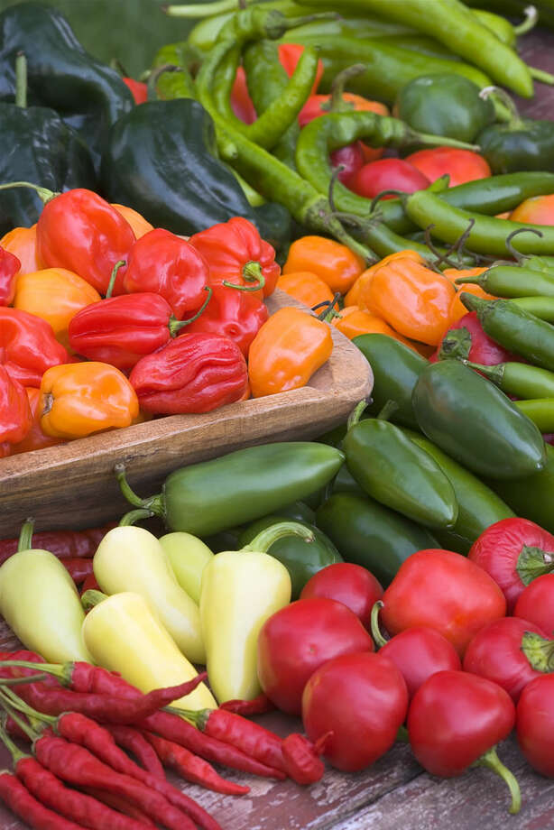 Peppers come in all sorts of colors, shapes and degrees of heat, from mild and sweet to very hot.